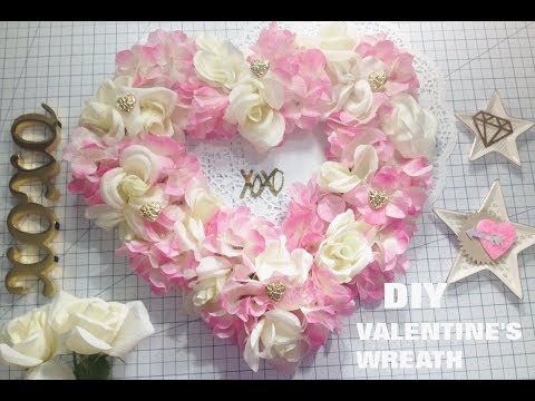 DIY Valentine's Day Room Decor I $8 Valentine's Wreath Tutorial
