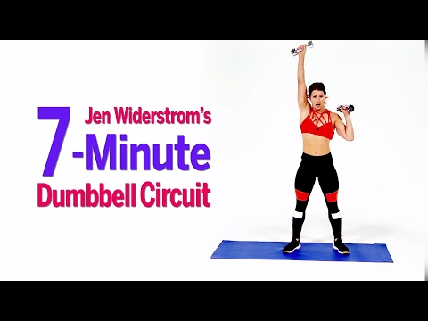Torch Fat and Build Muscle With Jen Widerstrom's 7-Minute Dumbbell Circuit