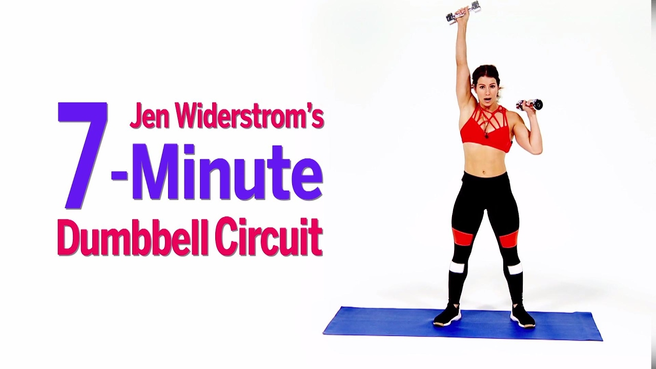 torch fat and build muscle with jen widerstrom s 7 minute dumbbell circuit youtube. Black Bedroom Furniture Sets. Home Design Ideas