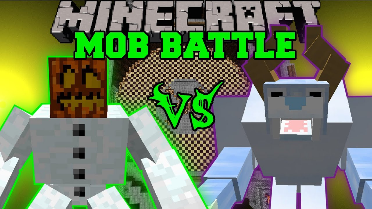 Mutant Snow Golem Vs Snow Beast Minecraft Mob Battles