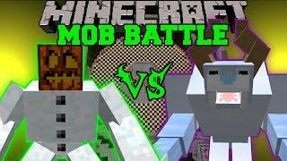 MUTANT SNOW GOLEM VS SNOW BEAST - Minecraft Mob Battles - Mods