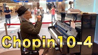 【ストリートピアノ】ショパンエチュード10-4【Public piano 】Chopin etude 10-4