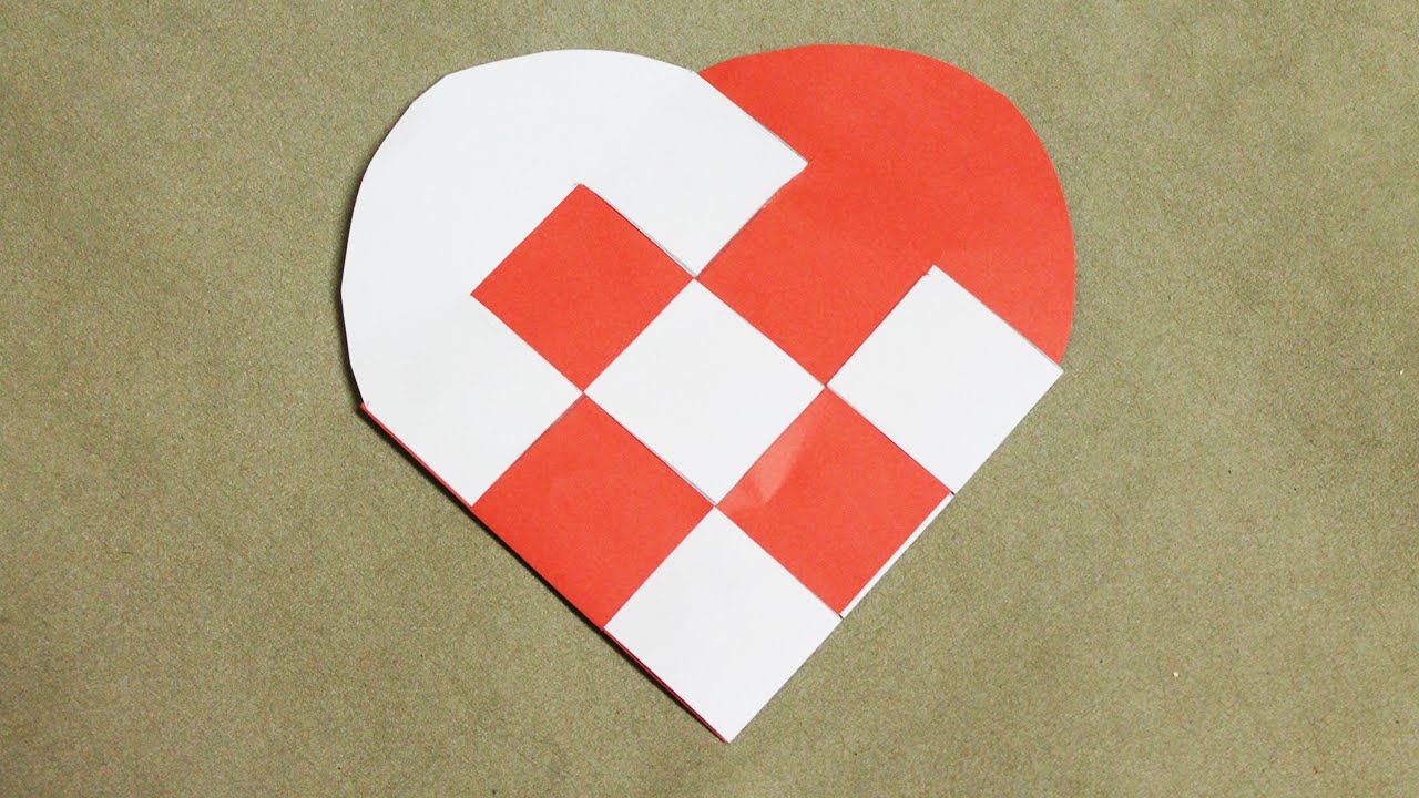 Comment faire une coeur en papier youtube - Coeur origami facile ...