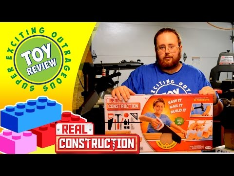 Real Construction Deluxe Workshop - JAKKS Pacific - Saw It, Nail It, Build It! - Toy Review