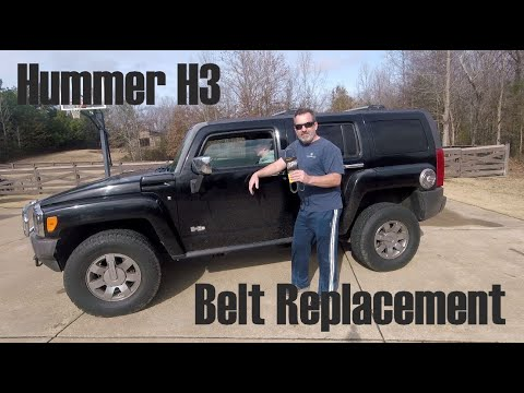 RidgeLife:  Hummer H3 Belt Replacement (fix squeaky belt)