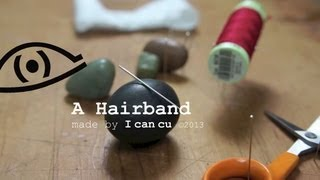 DIY hairband, easy project stitched by Hand
