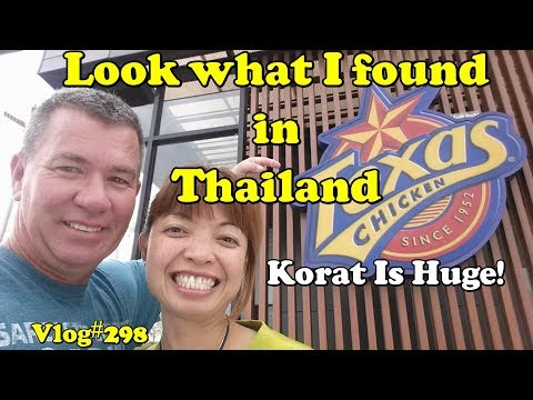 I found Texas Chicken. Korat is the gateway between isan and Bangkok.