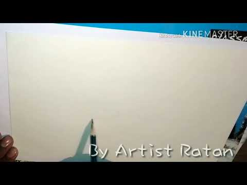 Simple Landscape Drawing for Beginners by Artistratan