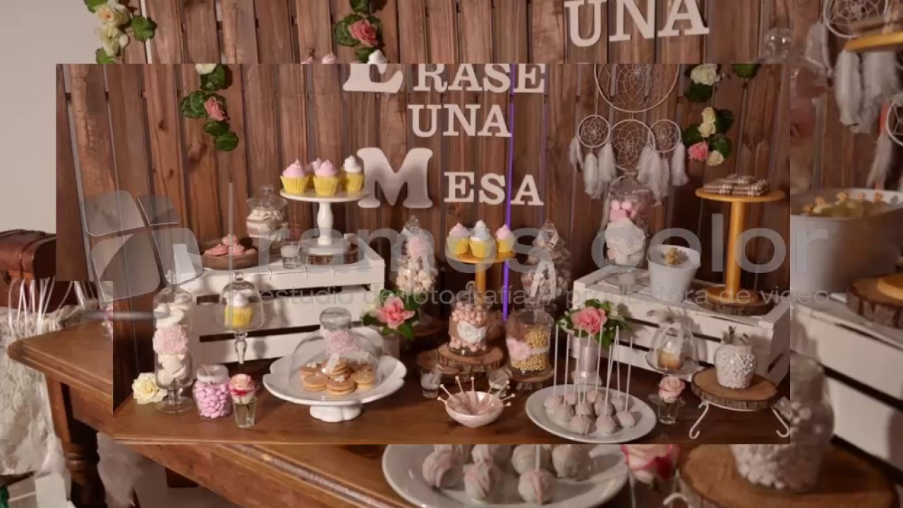 Mesas dulces vintage youtube for Decoracion para mesa dulce