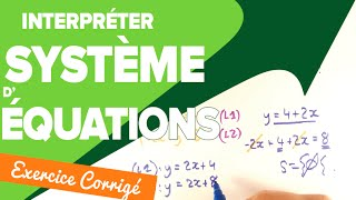 Systeme d'Équation à deux Inconnues - Interprétation Graphique - Mathrix