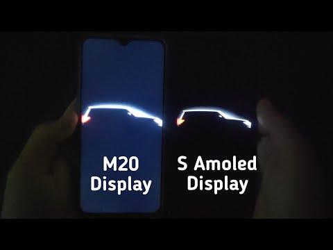 Samsung M20 display vs super Amoled display | It's hard to believe 😮