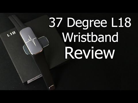 37 Degree L18 Wristband Review   Fitnes Tracker
