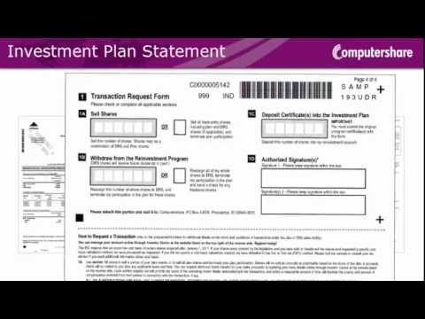 How to read your Computershare Investment Plan Statement (US Issuers)