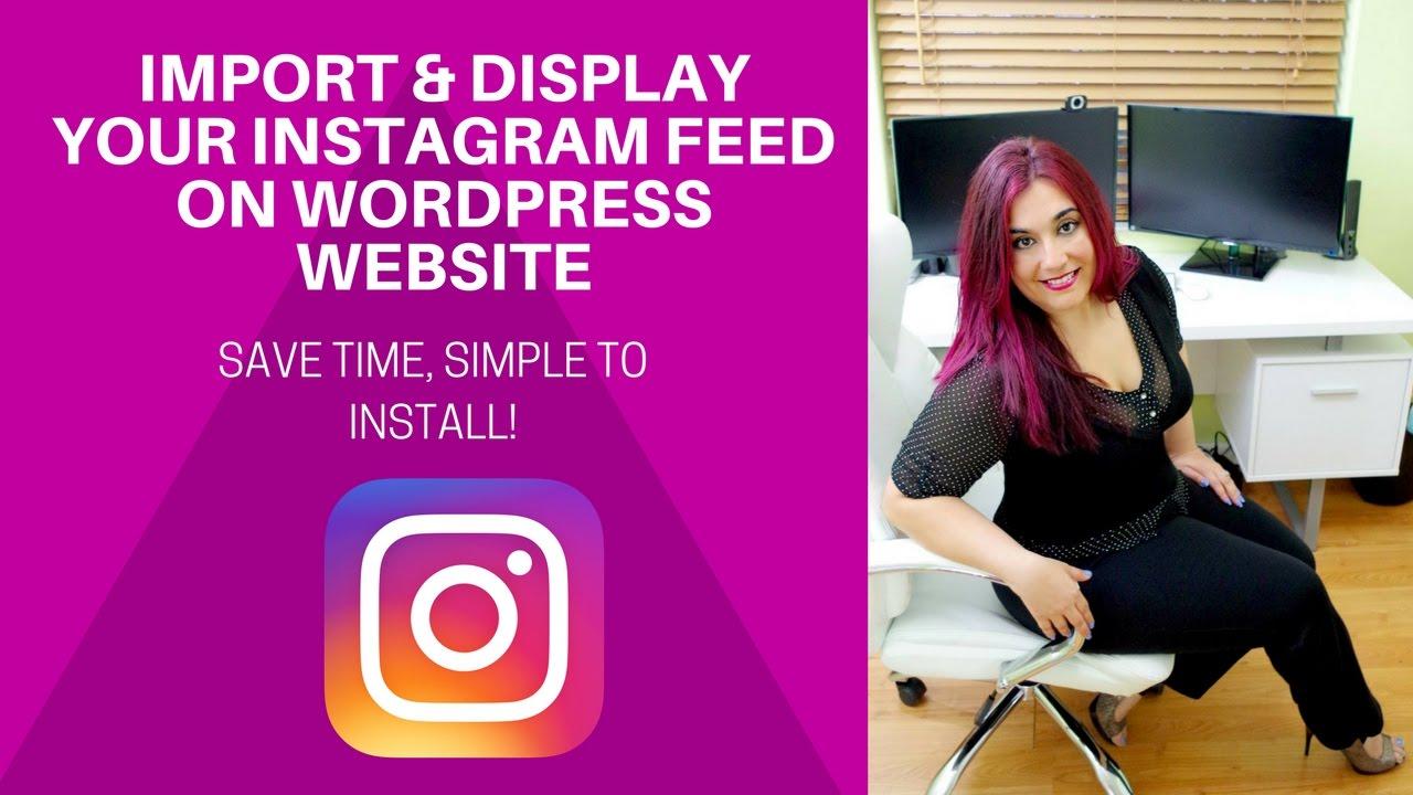 wow! import your instagram feed on wordpress website | divi