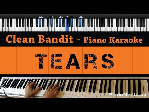 Clean Bandit - Tears ft. Louisa Johnson - Piano Karaoke / Sing Along / Cover with Lyrics