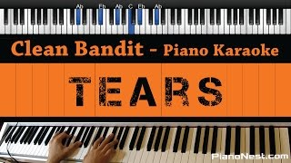 Clean Bandit - Tears ft. Louisa Johnson - Piano Karaoke / Sing Along / Cover with Lyrics