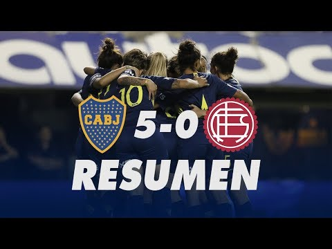 #Resumen: Boca 5-0 Lanús   Fútbol femenino