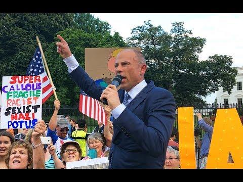 Michael Avenatti protests Trump at the White House (July 17, 2018)