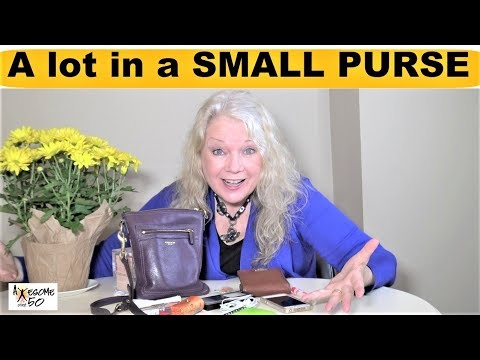 What's Inside my Small Purse I use most of time, Women Mature over 50