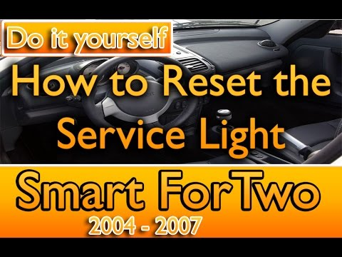 How reset the service light on a Smart Fortwo 2004-2007 - YouTube