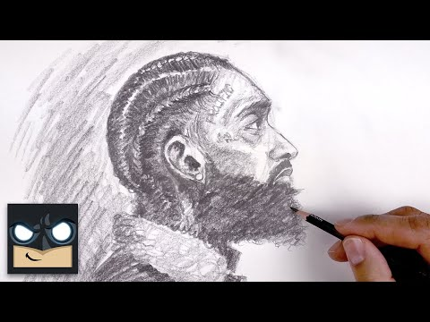 How To Draw Nipsey Hussle   Sketch Tutorial