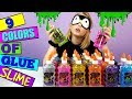 9 COLORS Of Glue 3 SLIME Challenge!!!