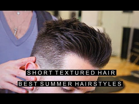 Mens Short Textured Hairstyle