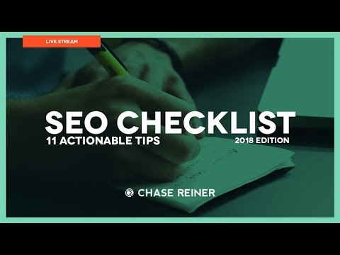 2018 SEO Checklist ☑️️ (11 Actionable Tips)