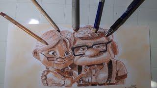 "Drawing Carl and Ellie ""movie UP"" (Dibujando a Carl y Ellie pelicula""UP"")NITO OCHOA"