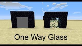 Minecraft: One Way Glass Walls in 13w38a