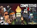 COMPETITIVO 2 vs 2 - Counter Strike Global Offensive - Gameplay PT BR