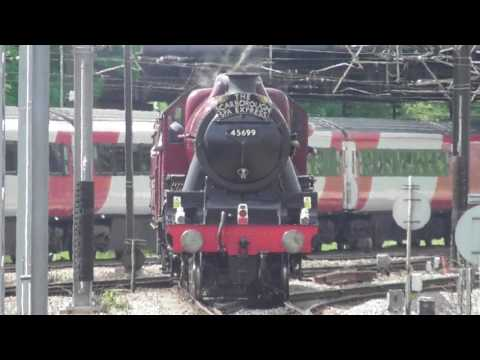 LMS Jubilee No. 45699 'Galatea' - 'The Scarborough Spa Express' (1Z21) - York   1st June 2017