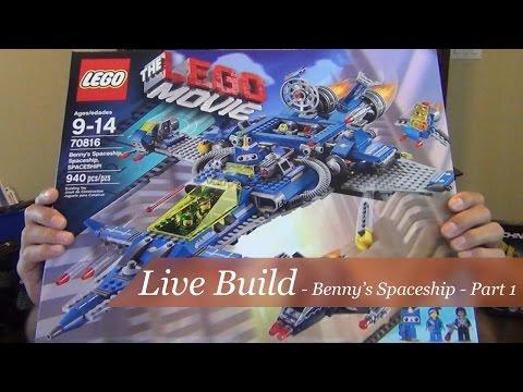 Live Build Part 1 - The Lego Movie Benny's Spaceship - Set #70816