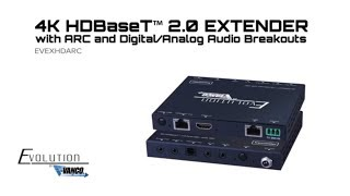 Evolution 4K HDBaseT 2.0 Extender with ARC and Digital/Analog Audio Breakouts