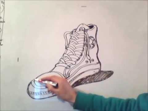 AHow Una Draw Shoe Dibujar Como To Paso Zapatilla YvfyIgb67