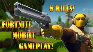 FORTNITE MOBILE GAMEPLAY | FIRST GAME & 8 KILLS! | INVITE CODE GIVEAWAY!