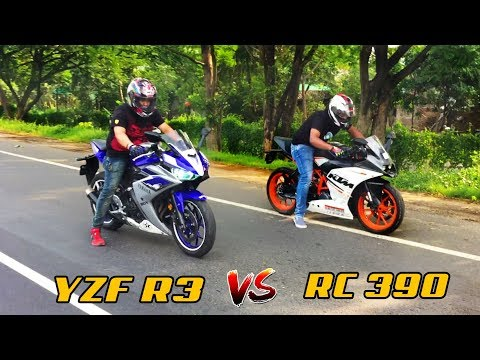 YAMAHA R3(Modified) vs KTM RC 390 Drag Race | Top End Race | Highway