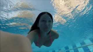 GoPro we are in our swimming pool part 2