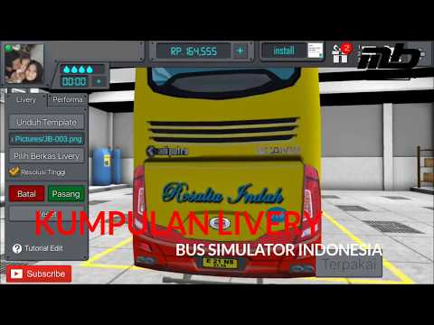 Kumpulan link download livery BUSSID (bus simulator Indonesia)