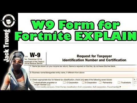 Fortnite Support A Creator W9 Form
