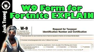 Fortnite Support A Creator W9 Form