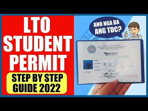 PAANO KUMUHA NG STUDENT PERMIT   STEP BY STEP GUIDE 2020 with TDC FAQS