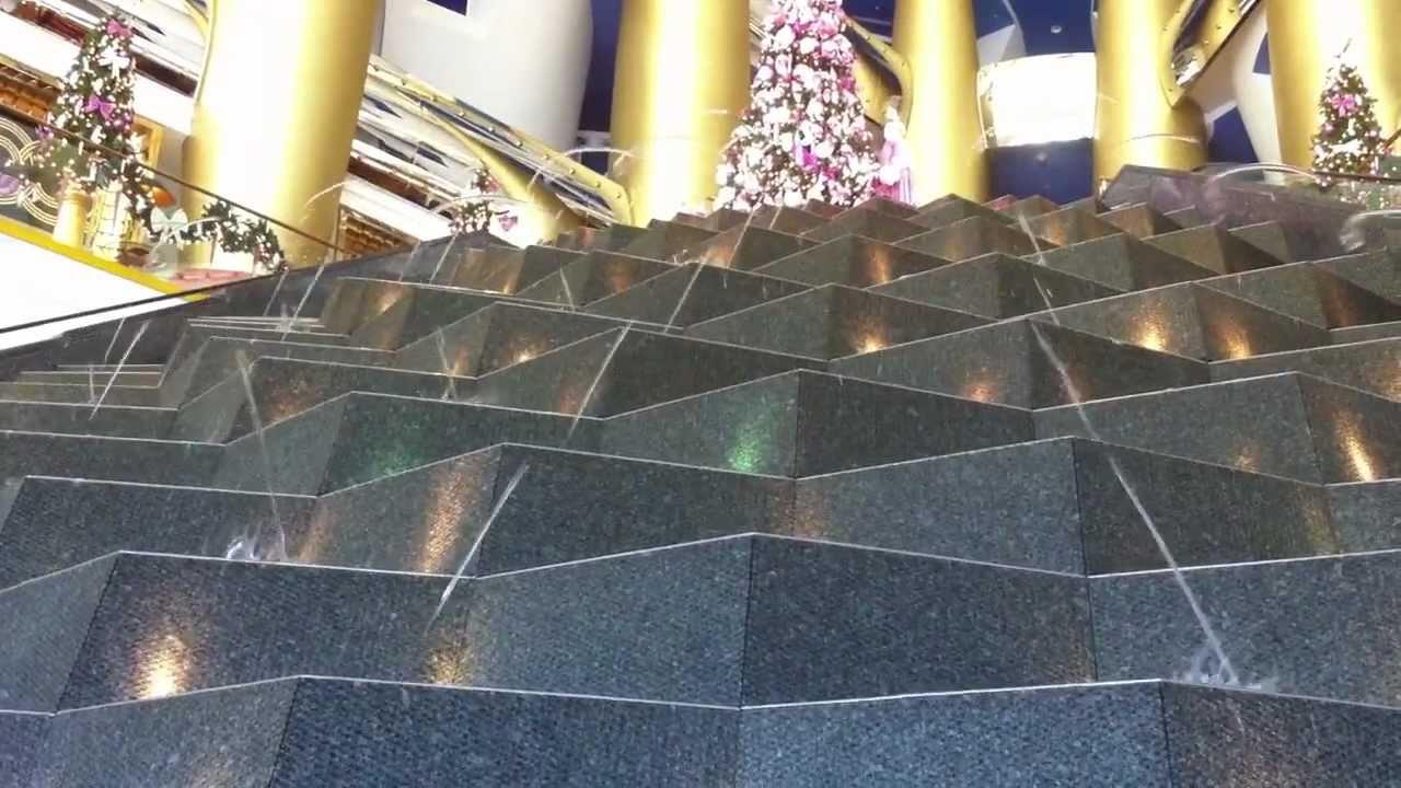 Burj Al Arab Hotel Lobby Fountain Dubai Youtube