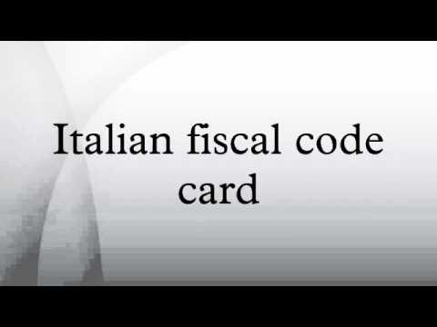 Italian fiscal code card