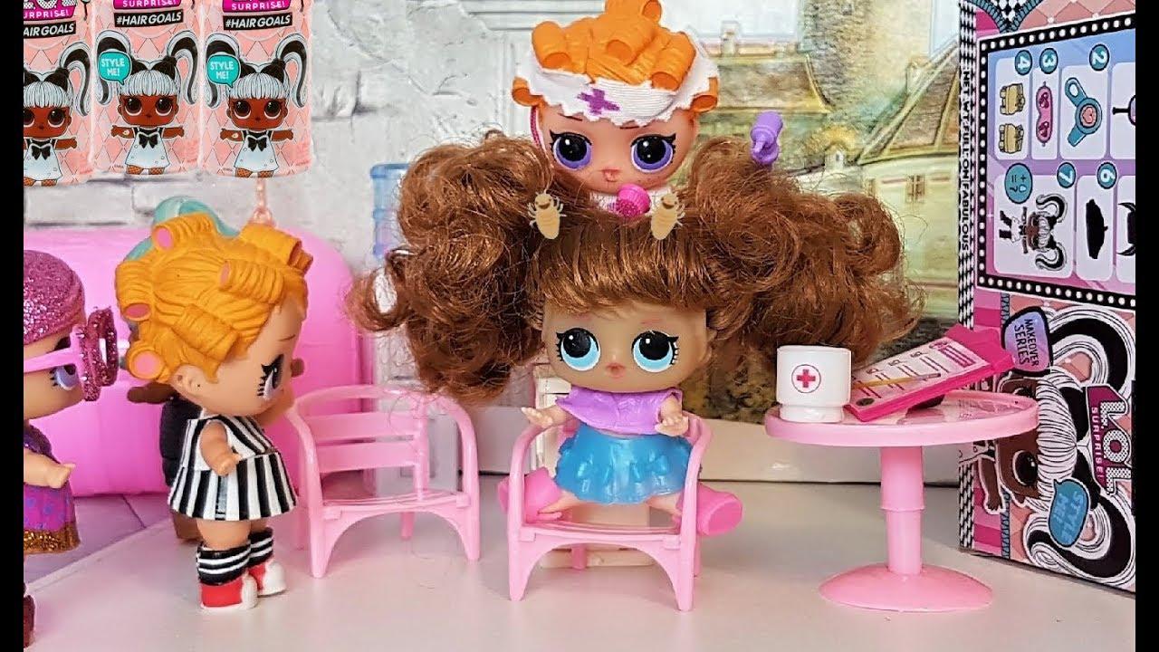 Новенькая в классе почему то чешется? Кукла ЛОЛ с волосами ...