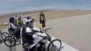 Socal Motorized Bicycle racing 05 30 2015  Willow Springs