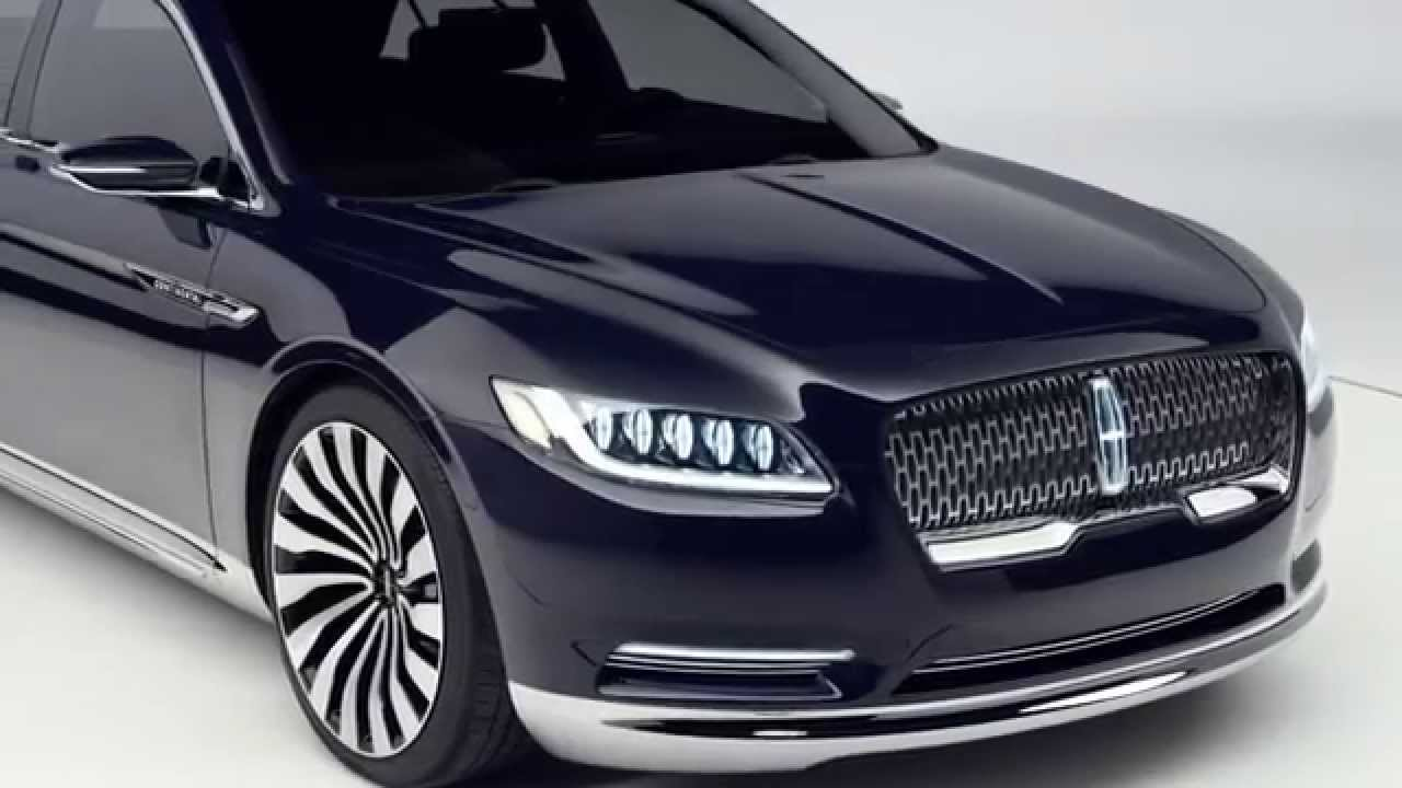 2015 lincoln continental concept new york auto show. Black Bedroom Furniture Sets. Home Design Ideas