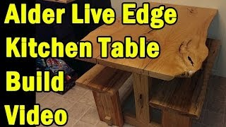 Live Edge Kitchen Table Build Walkthrough