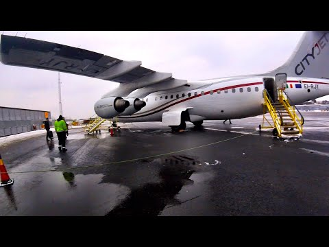 A Long Delay... CITYJET (for Brussels Airlines) RJ85 Stockholm-Bromma to Brussels