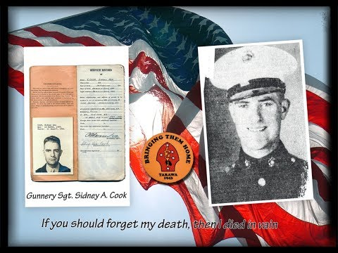 Arlington Full Honors Burial for Tarawa Marine Gunnery Sgt. Sidney Asa Cook  9/6/2017